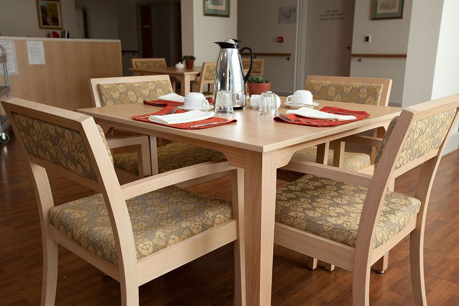 Aged Care Furniture For Nursing Homes By Healthcraft Labrador Gardens Rustic Dining Table Rustic Dining Interior Spaces