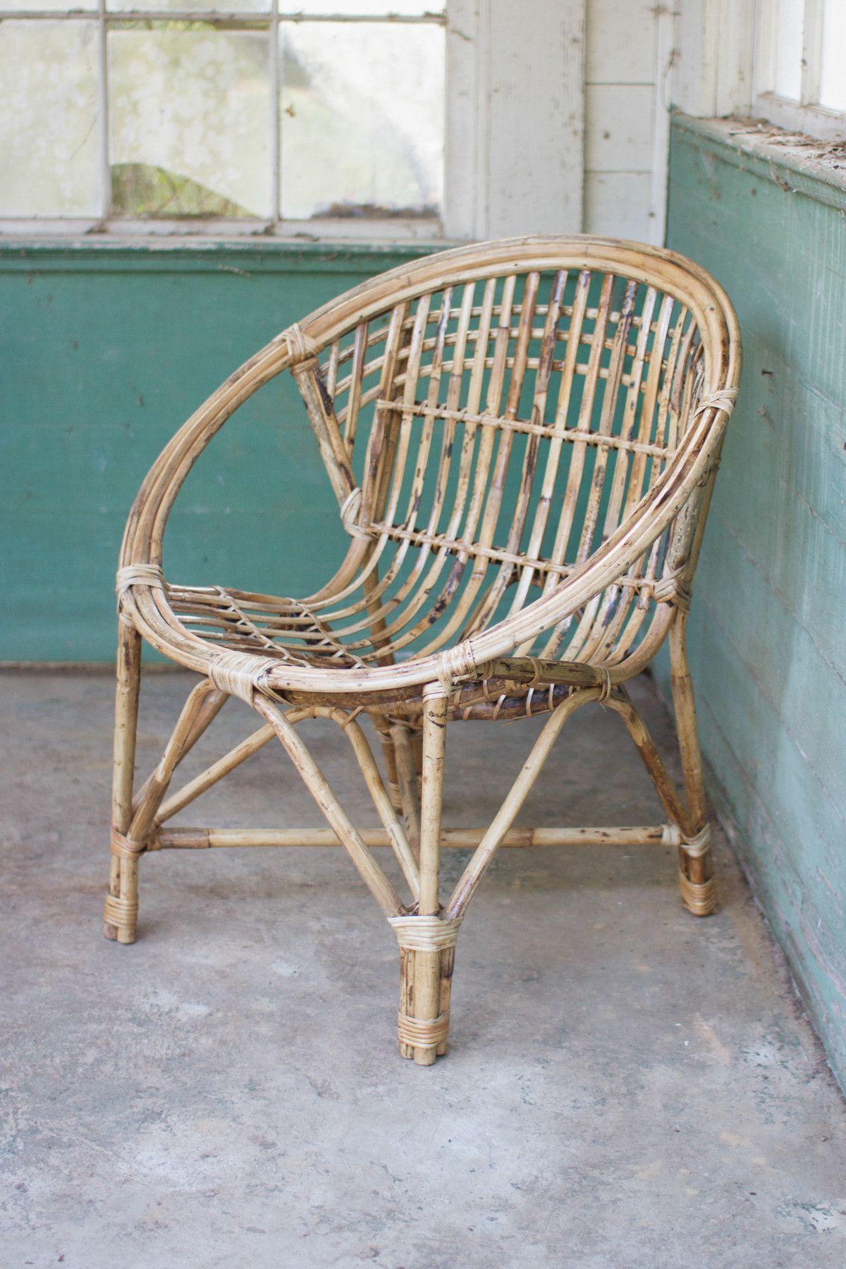 Kalalou Bamboo Chair 1 Round