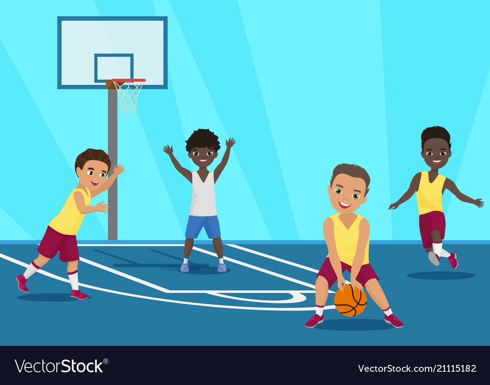 Vector Cartoon Illustration Of Kids Playing Basketball In Schoool Download A Free Preview Or High Quality Adobe I In 2020 Cartoon Kids Little Girl Cartoon Kids Vector