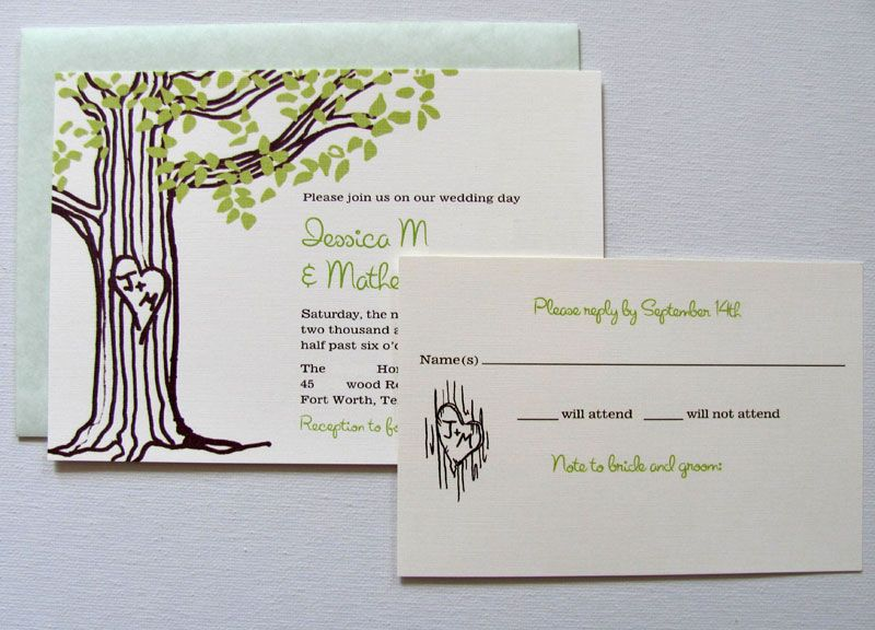 Initials in tree--love!! Zach gave me a framed drawing he did of our - best of wedding invitation card ideas pinterest