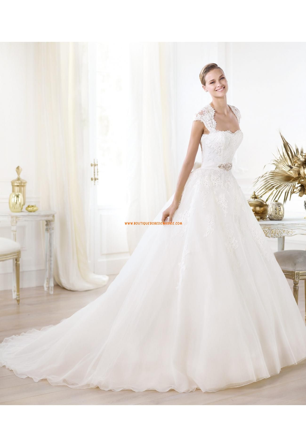 robe de mari e princesse organza dentelle avec bretelles amovibles mariage pinterest robe. Black Bedroom Furniture Sets. Home Design Ideas