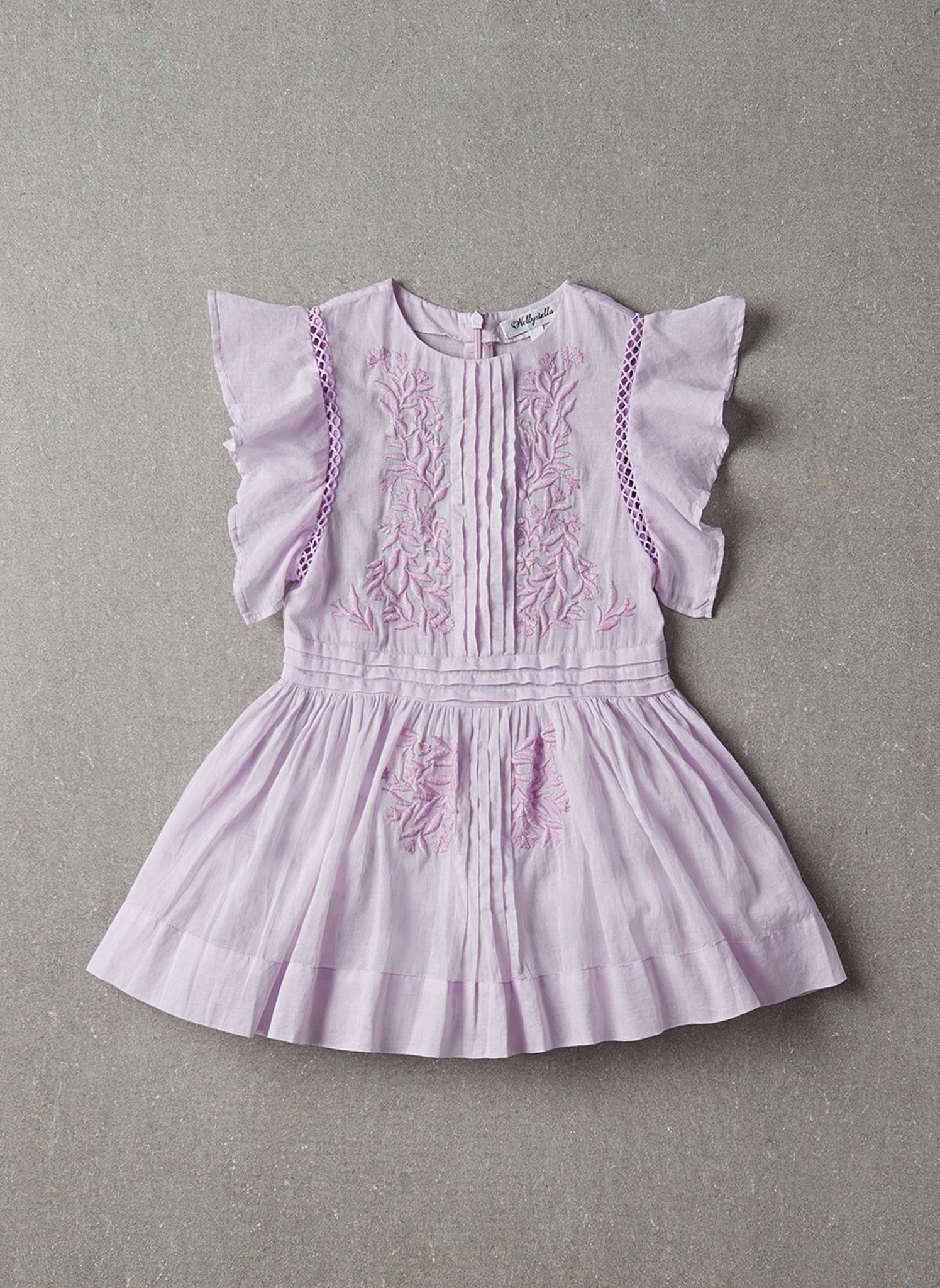 Nellystella Zoe Dress in Vintage Violet