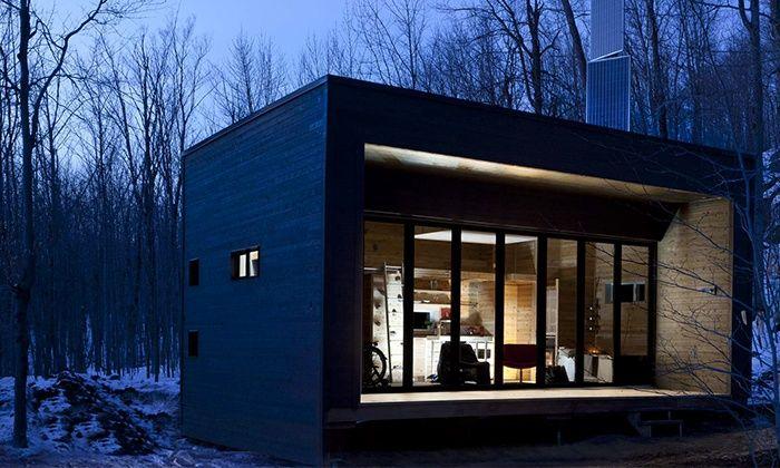 ZOOBOX - Le Vertendre - refuge écoénergétique en forêt - Québec