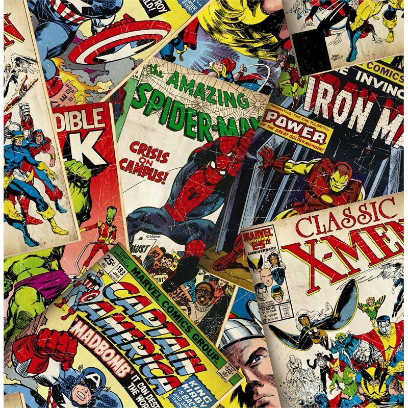 Marvel 52cm x 10m Comics Cover Wallpaper | Cover wallpaper ...