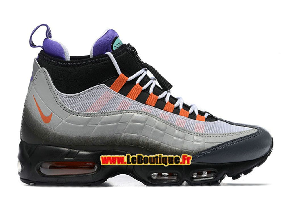 huge discount 473e2 a4764 Nike Air Max 95 SneakerBoot - Botte Nike Pas Cher Pour Homme Noir Orange  éclatant Volt 806809-078