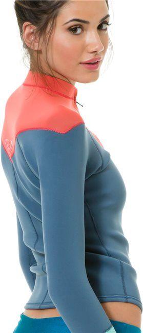 Surfer Girl. Roxy K Meador Front Zip wetsuit jacket http://www.swell.com/New-Arrivals-Gear/ROXY-K-MEADOR-FRONT-ZIP-LS-JACKET?cs=MA