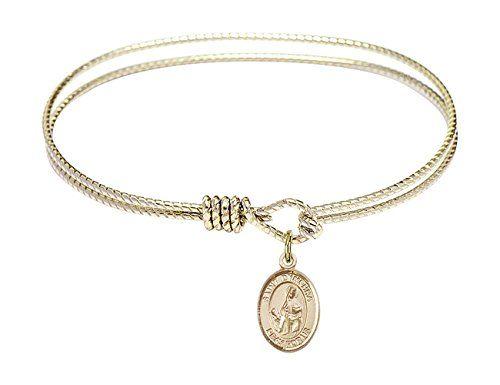 James The Greater in Sterling Silver Bonyak Jewelry Oval Eye Hook Bangle Bracelet w//St