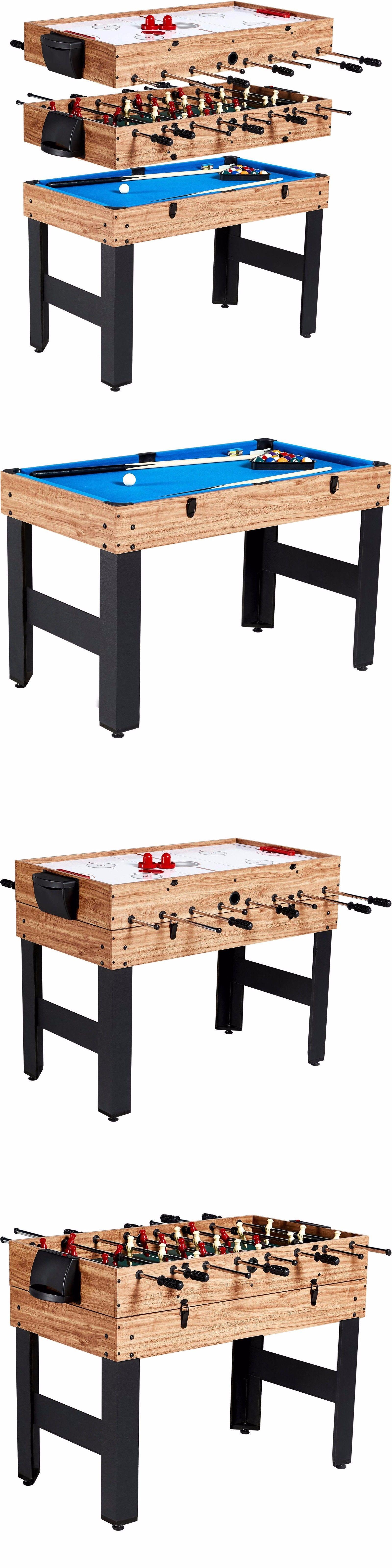 Tables 21213: Combo Game Table 3 In 1 Billiard Slide Hockey Soccer Sport  Multi Play