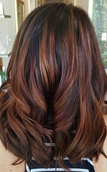 Hair Mahogany Highlights