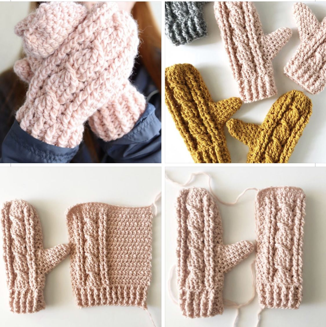 Free Pattern Crochet Mitts Crochet Cable Crochet Mittens