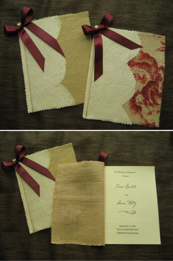 DIY Project - Wedding Programs | Wedding programs, DIY wedding and ...