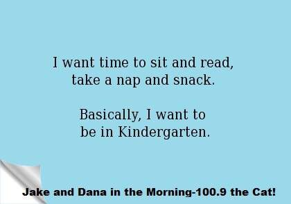 Or that would be in pre-school these days!!!  Lol