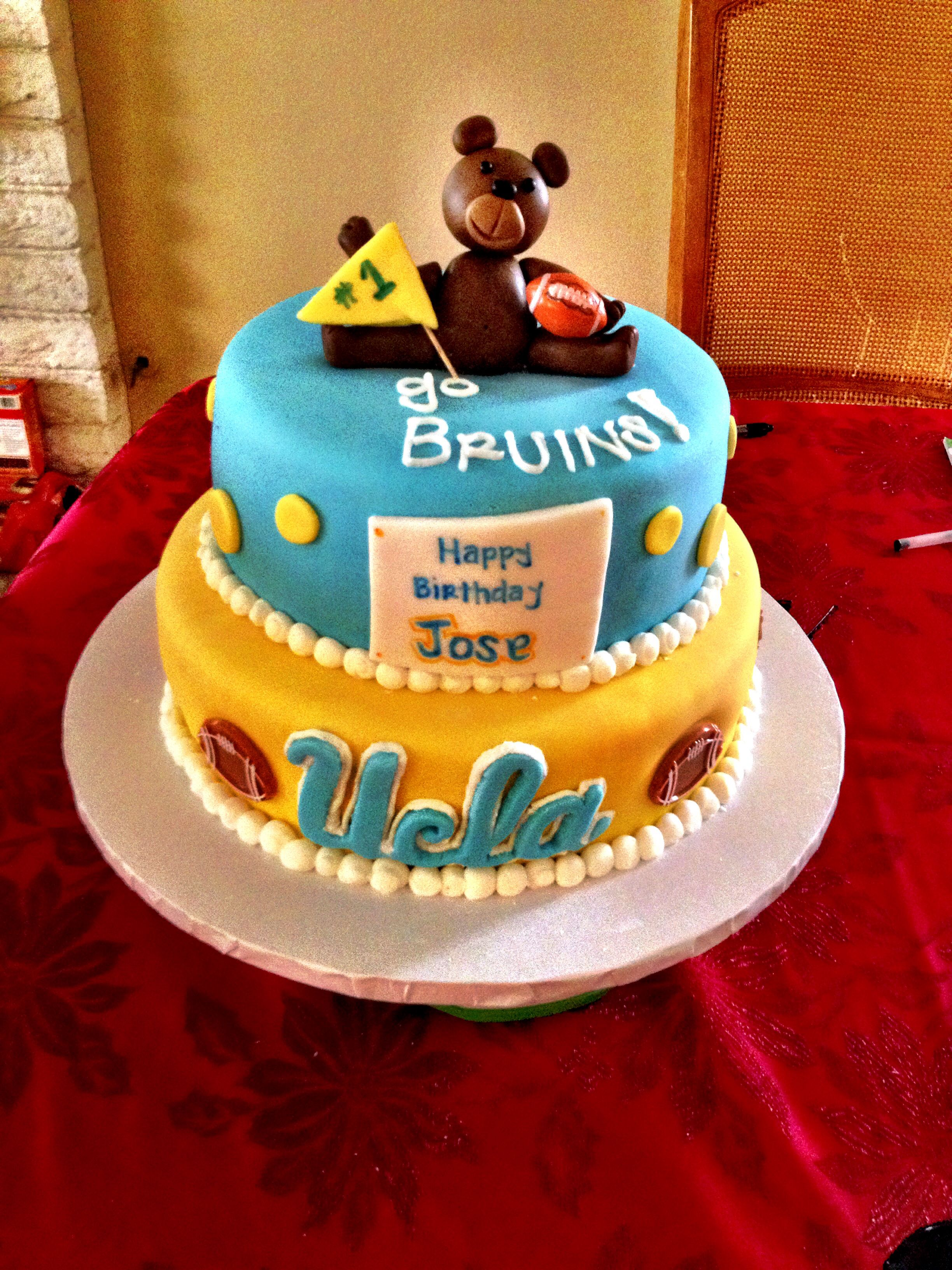 Ucla Bruins 1st Birthday Cake