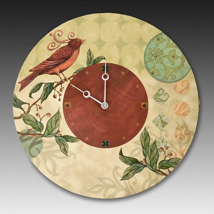 Birdscape Wall Clock | relojes | Pinterest | Relojes de pared, Reloj ...