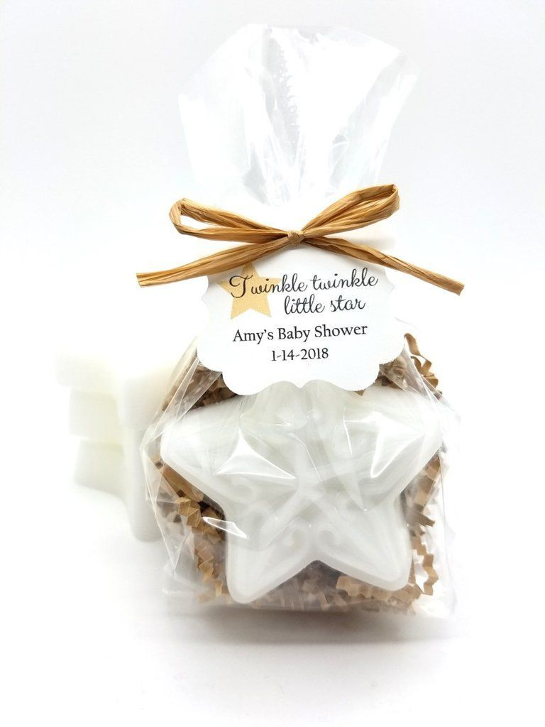 Star Soap Baby Shower Favors with Custom Tags for Rustic Twinkle ...