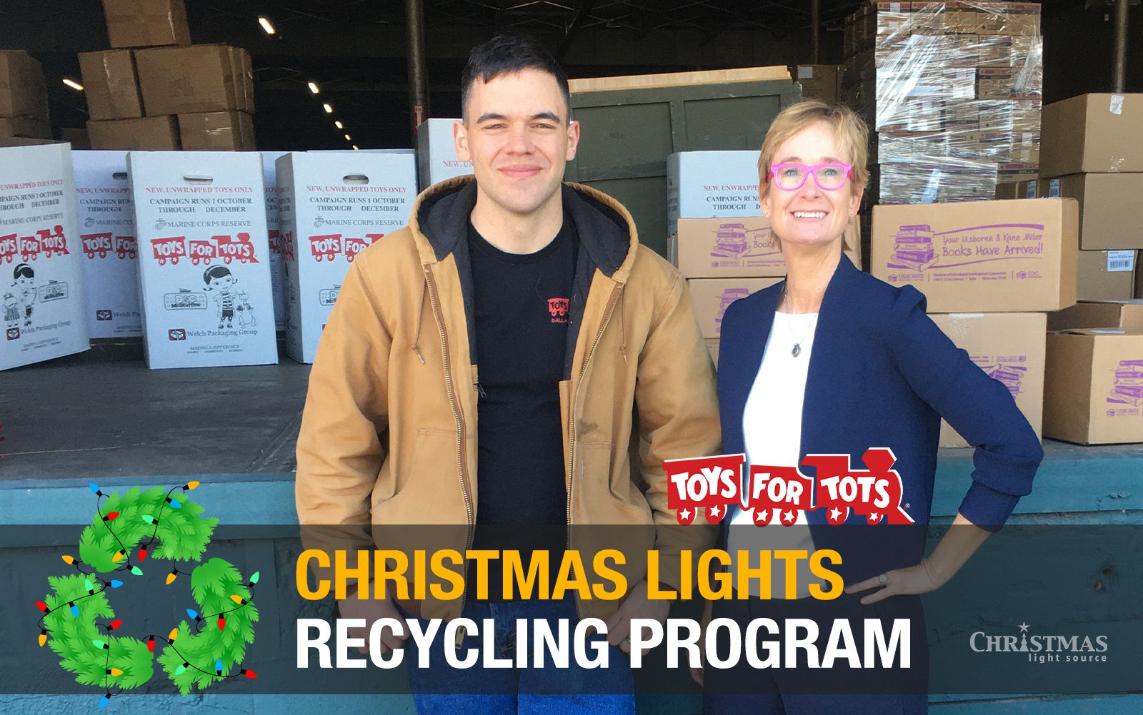 Christmas Lights Recycling Benefits Toys for Tots for 2019 in 2020