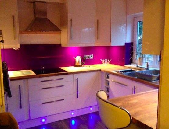 deep purple acrylic splashbacks at httpwwwacrylic splashbackscom acrylic splashbackskitchen decorkitchen - Purple Kitchen Decorating