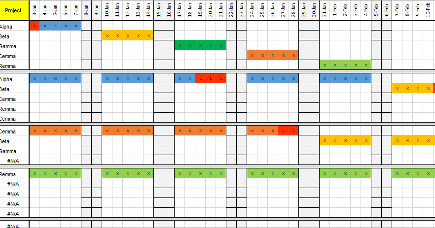 Team Resource Plan Excel Template Can Be Used To Ign And Track Project Allocations For A