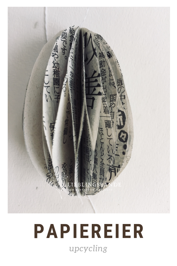 Papier- Waben- Eier aus alten Zeitungen einfach selber machen #loisirscréatifs