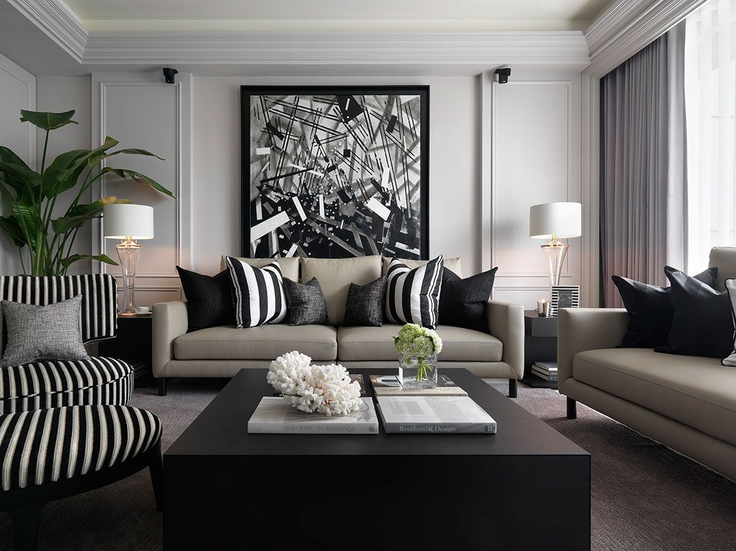 grey luxe living room. | family room decorating, living room