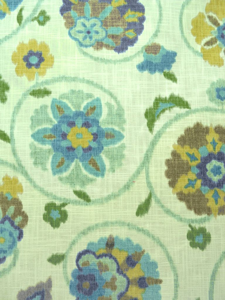 PAMIR AQUAMARINE #blue-turquoise #green #print-fabrics #suzani