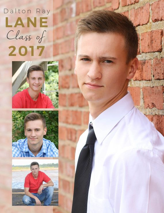 Senior Yearbook Ad, Photoshop Template, Graduation - Immediate ...