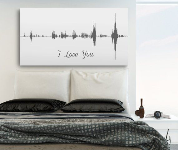th anniversary  personalized sound wave art canvas ts for men wife also rh pinterest