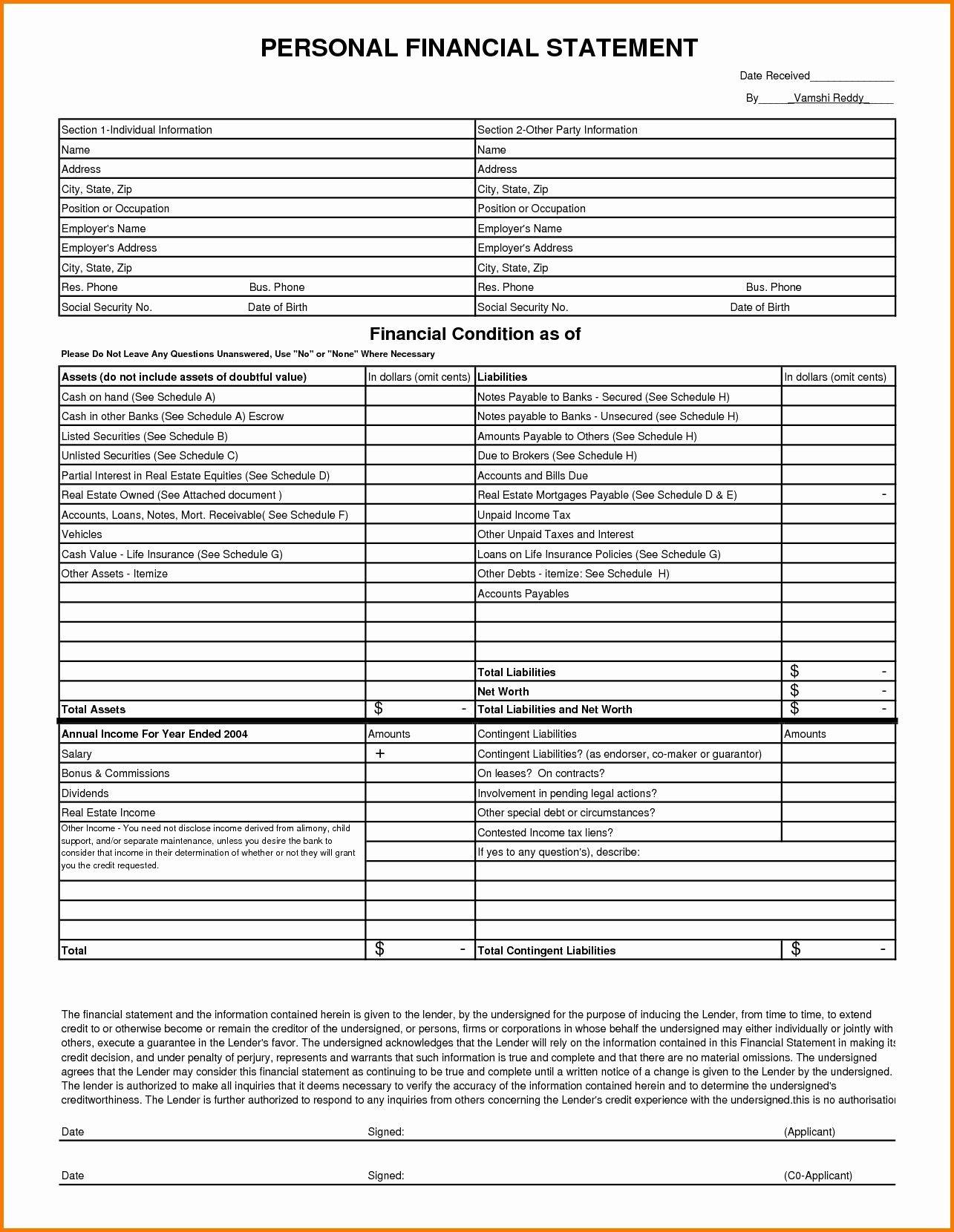 Unique Free Financial Statement Xls Xlsformat Xlstemplates