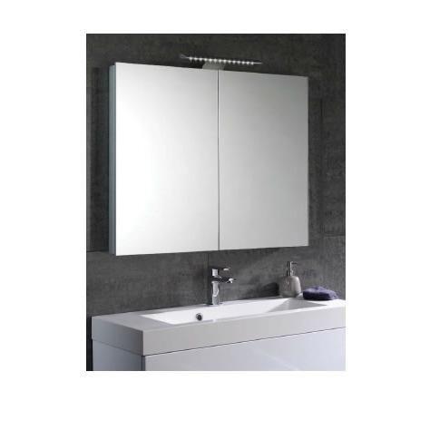 Mere Aura 900mm Bathroom Mirror Cabinet with Light ...