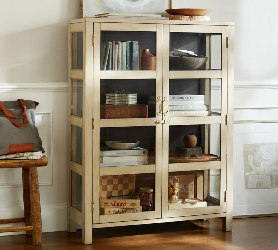 Dylan Glass Cabinet | Pottery Barn | Furnishings & Fixtures ...