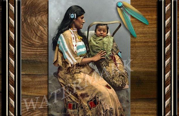 Native american indian blank greeting card printable download native american indian blank greeting card printable download chippewa woman child by treasuresofjen m4hsunfo