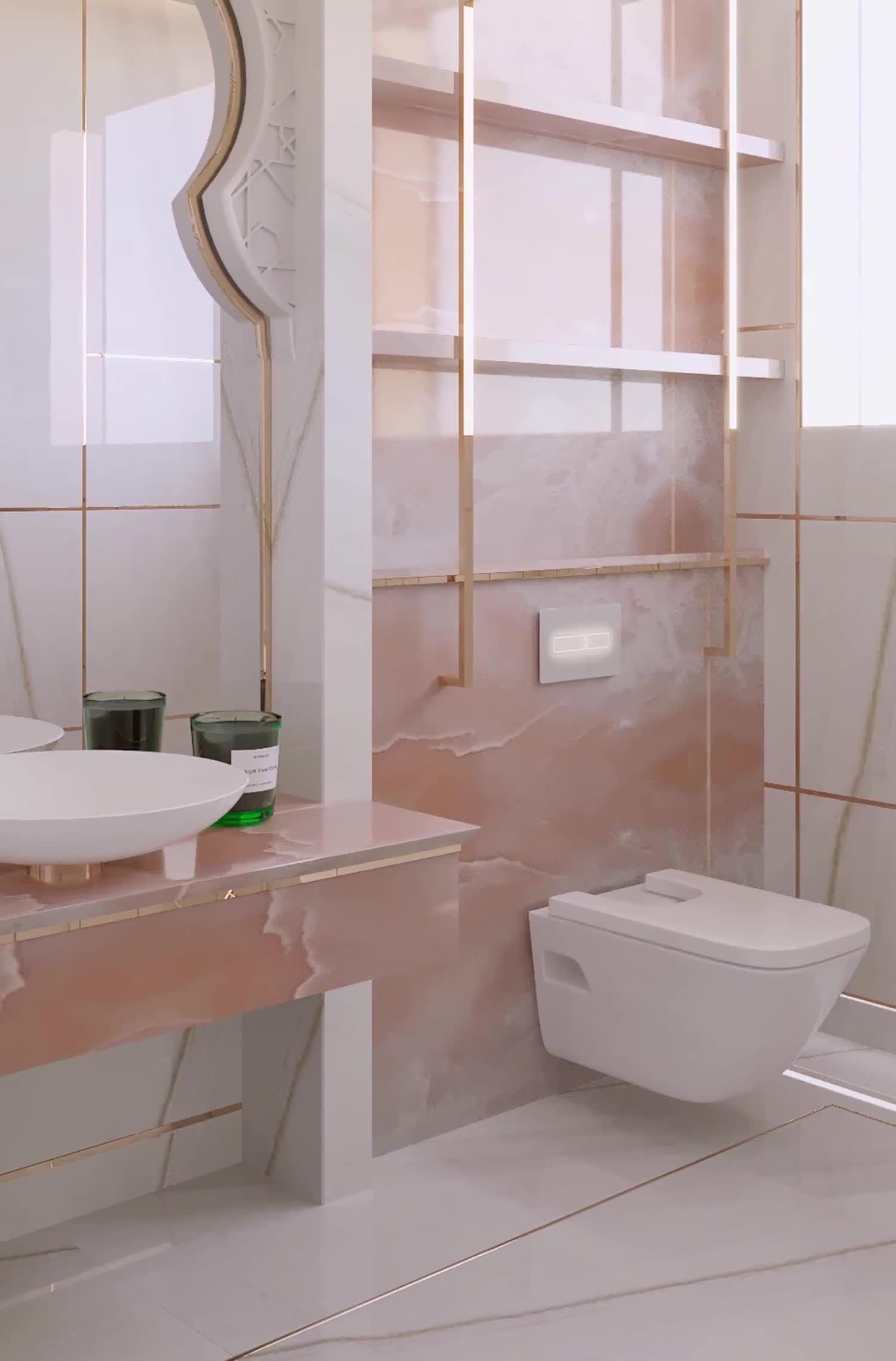 Elegant bathroom interior design videos by designers of Spazio