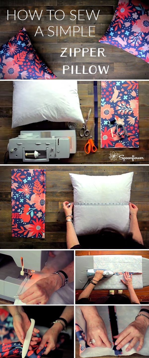 Photo of How to Sew a Simple Zipper Pillow