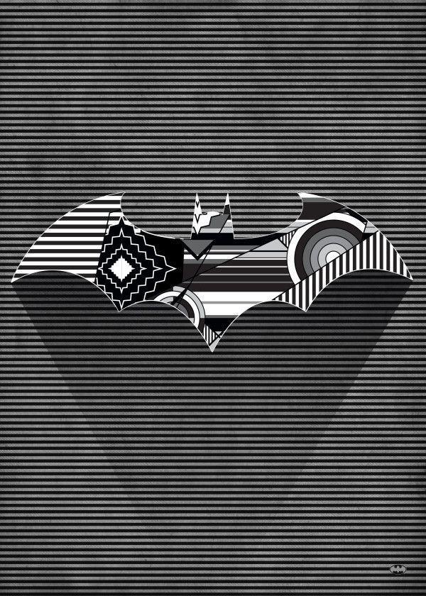 Official Batman Symbols Of Hope Cubist Bat #Displate explore Pinterest
