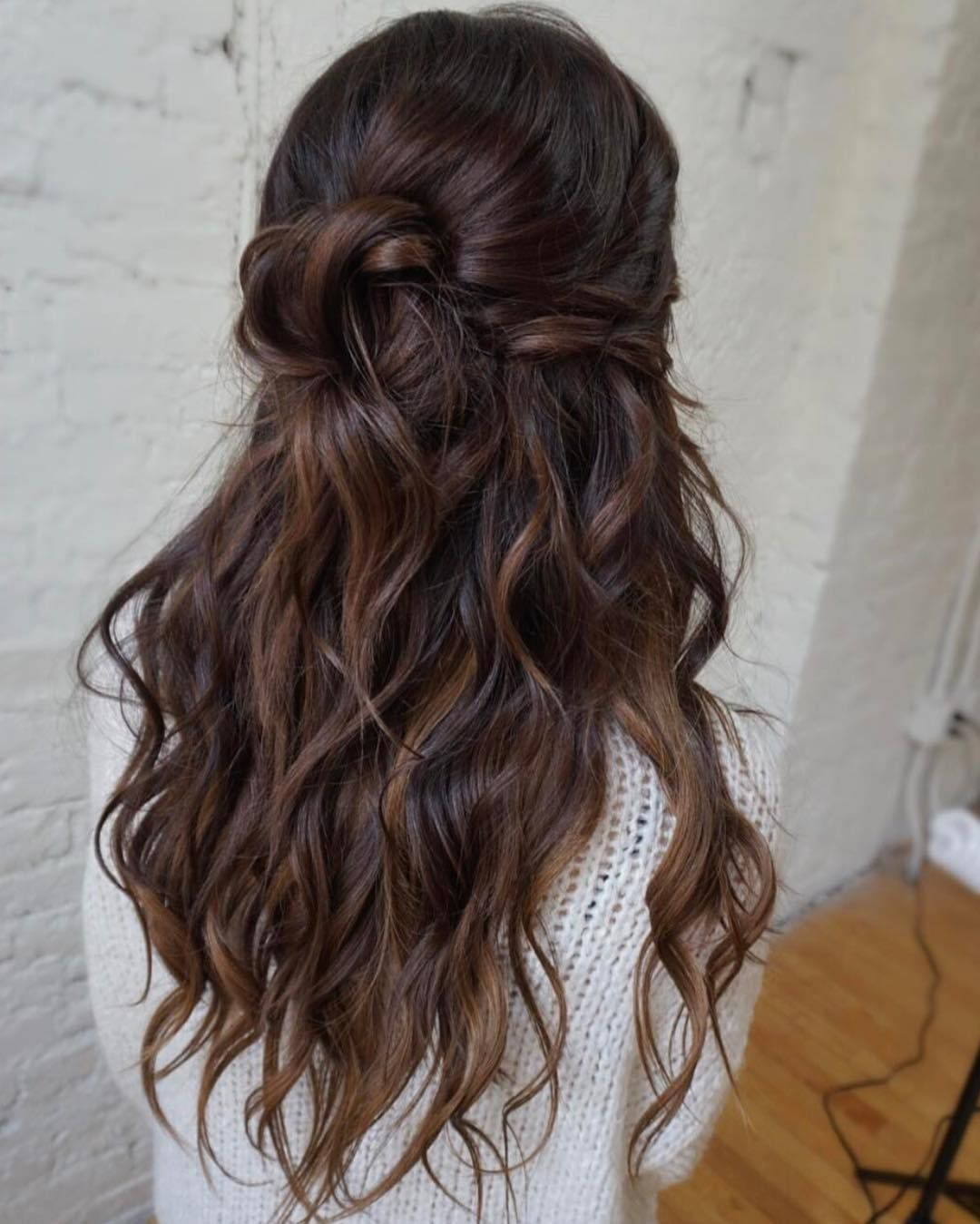 Wedding Hairstyles Boho: Wedding Hair Brunette, Wedding