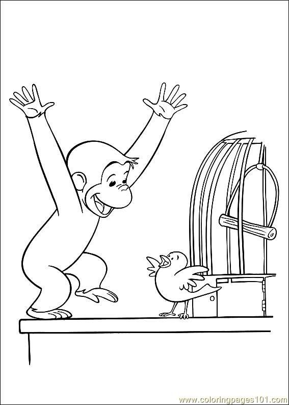 curious george coloring image - Curious George Coloring Books