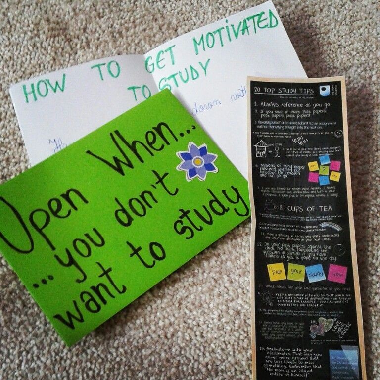 Open When Letters  Open When You DonT Want To Study  Open When