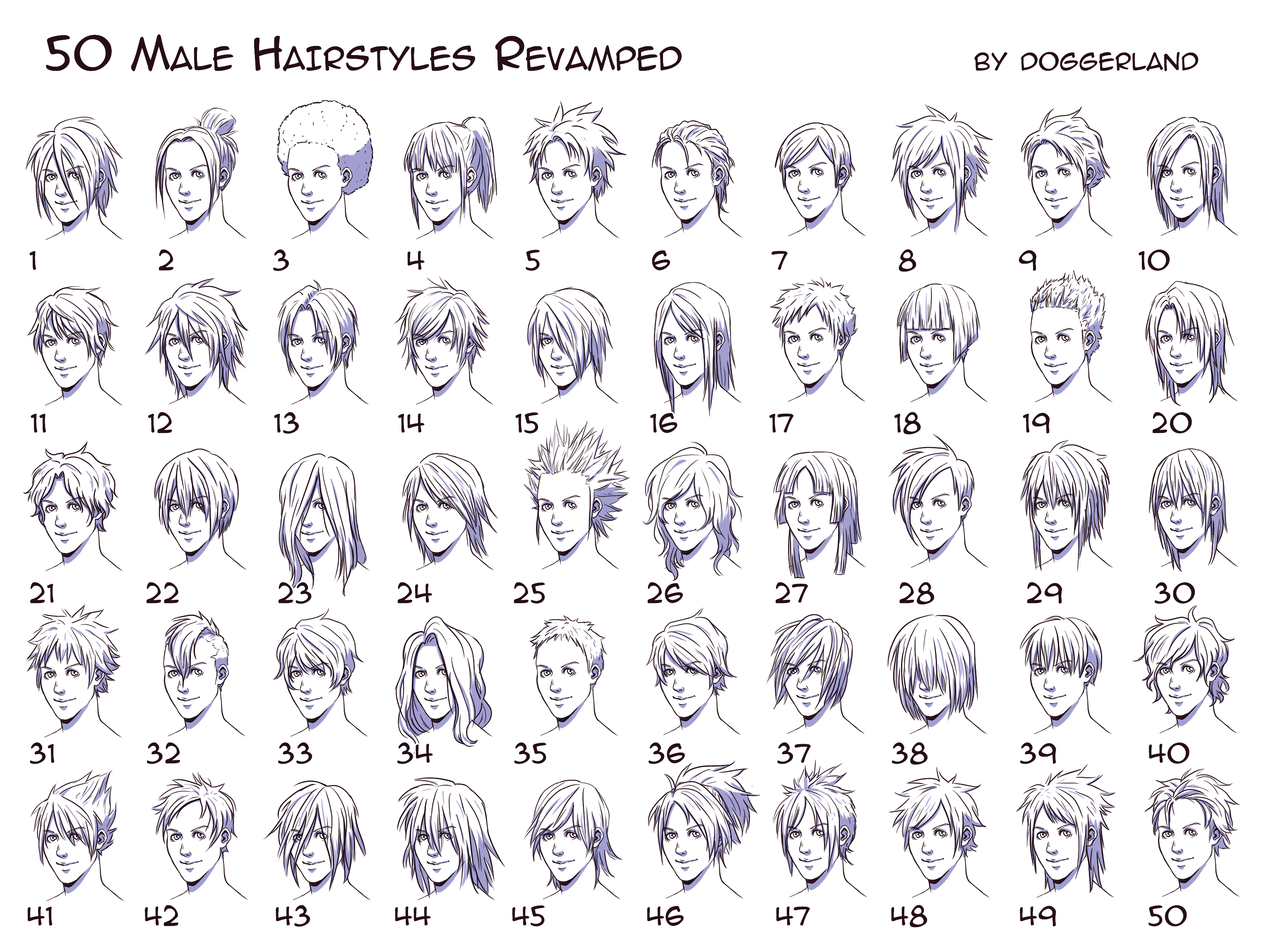 male hairstyles | drawing tips | anime boy hair, manga hair