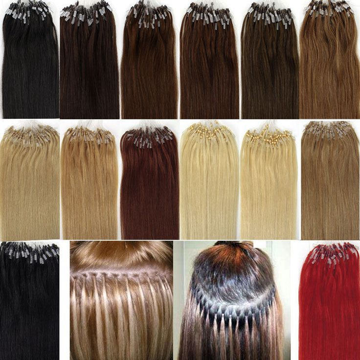 New 100s 16 26 Easy Loop Micro Rings Beads Remy Human Hair