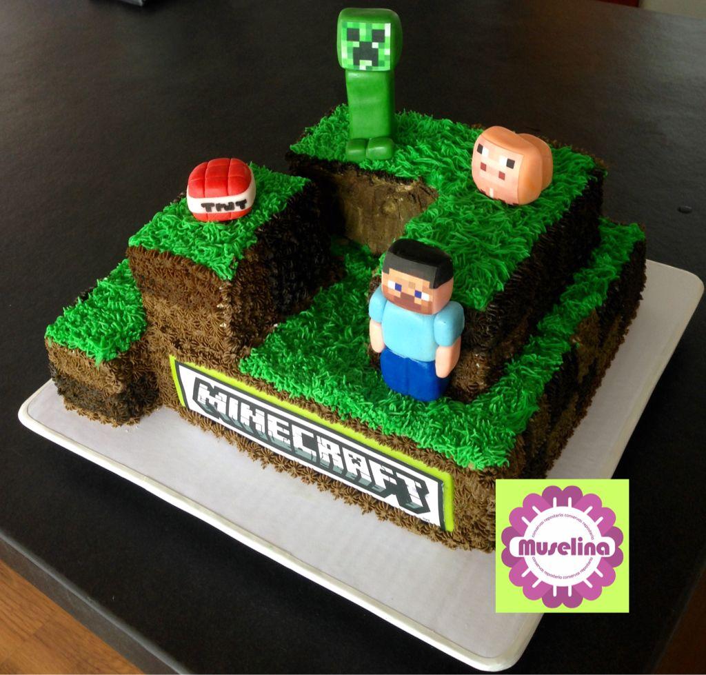 Torta Minecraft Minecraft Cake
