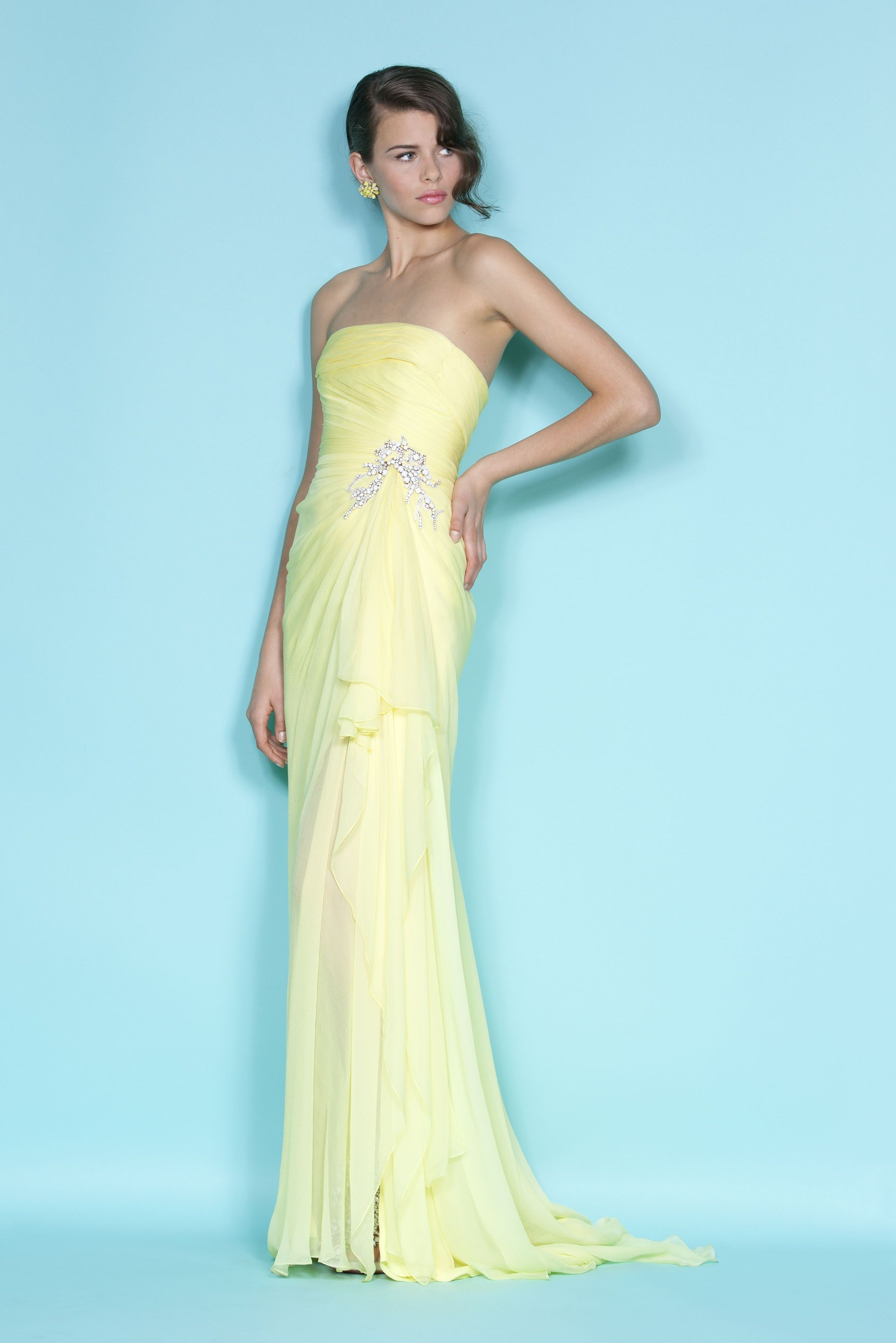 Marchesa Resort 2012 | Yellow | Pinterest | Marchesa, Resorts and Spring