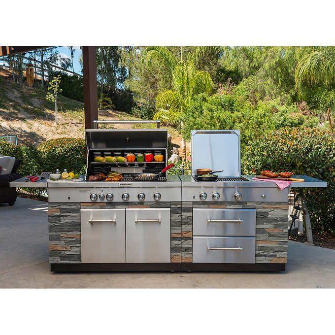 Kitchenaid Stone Island 9 Burner Grill Outdoor Kitchen Design Outdoor Kitchen Outdoor Kitchen Design Layout