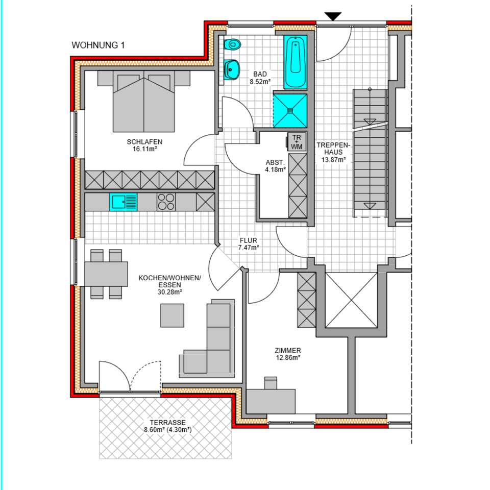 Moderne 3 Zimmer Eg Wohnung Mit Garten Premiumkuche In Harsefeld In 2020 Wohnung Mit Garten Wohnung Modern
