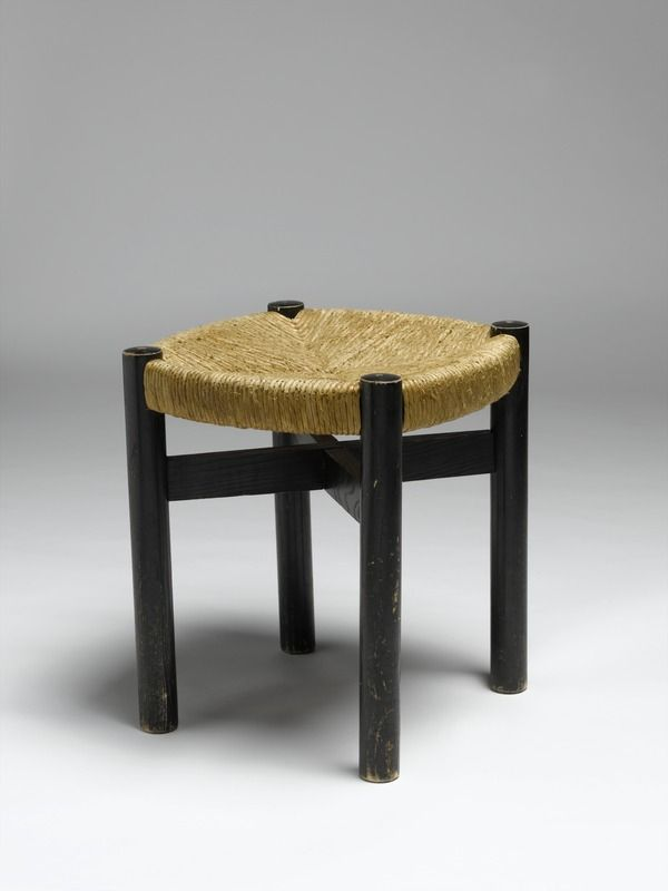 Charlotte perriand 1903 1999 tabouret 1968 1974 structure en bois peint et assise en - Salle de bain charlotte perriand ...