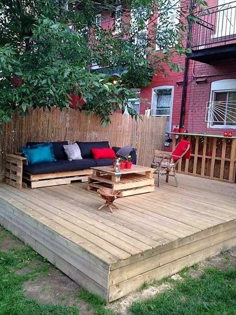 Cheap creations with recycled wood pallets pallet patio