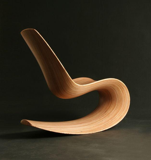 Design schaukelstuhl beton paulsberg  Cadeira do Balanço Contemporânea Savannah Rocker III - Feito à mão ...