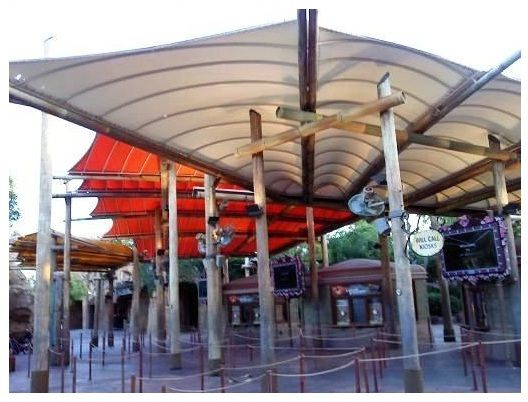 Entrance Canopy Covers At Universal Studios Orlando Custom Canvas Fabricated And Installed By Miami Awning