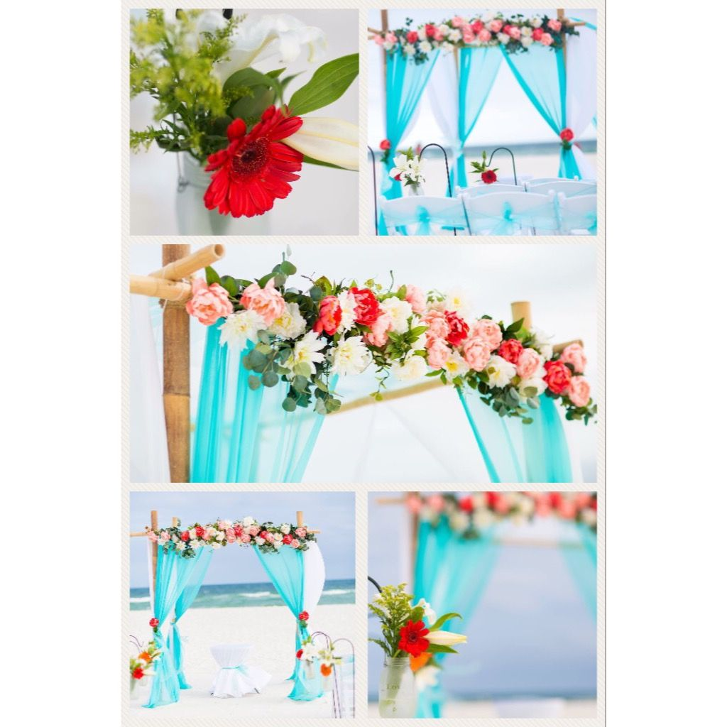 Beach Wedding Decor Coral And Turquoise (With Images
