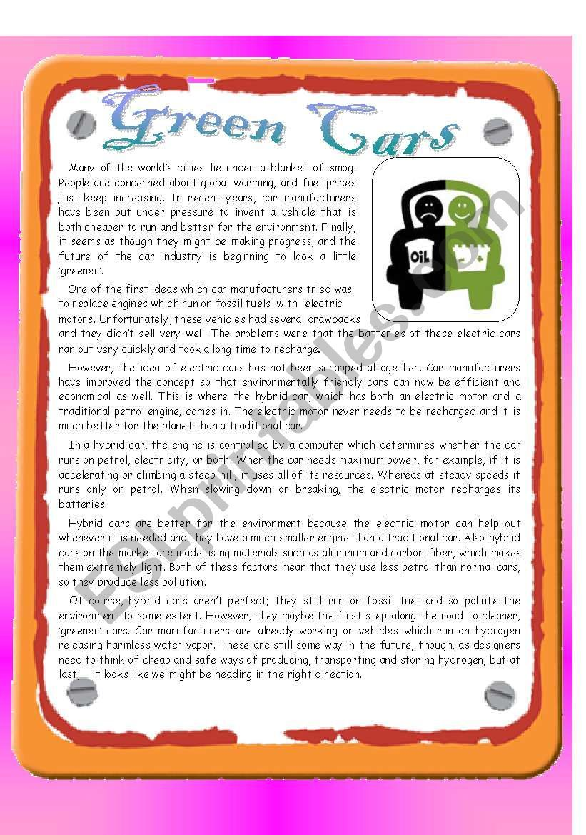 Cars Reading Comprehension Passages And Questions This Differentiated Rea Reading Comprehension Passages Reading Comprehension Reading Comprehension Resources [ 1102 x 736 Pixel ]
