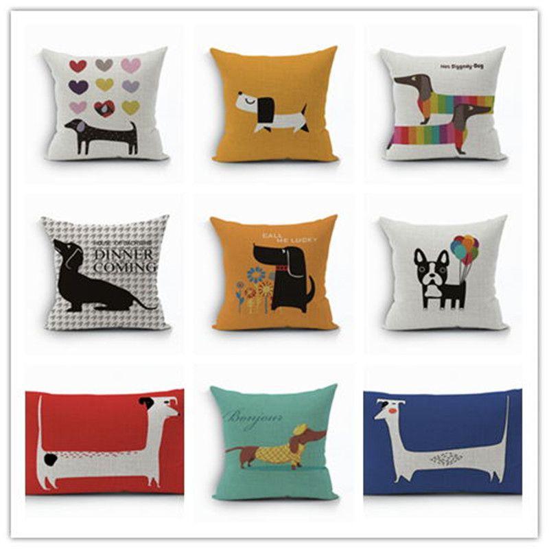 AnimalPatternPillowcaseHome Décor Sofa Square Pillow Cover Decorative Cushion